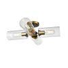This item: Barker Brass and Graphite Four-Light Semi Flushmount