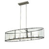 This item: Downtown Brushed Nickel and Graphite Seven-Light Pendant