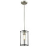 This item: Downtown Brushed Nickel and Graphite One-Light Mini Pendant