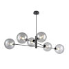 This item: Courcelette Graphite Six-Light CHandelier with Smoke Glass