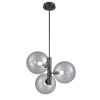 This item: Courcelette Graphite 19-Inch Three-Light Pendant with Smoke Glass