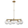 This item: Courcelette Venetian Brass Five-Light Chandelier with Clear Glass