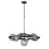 This item: Courcelette Graphite Seven-Light Chandelier with Smoke Glass
