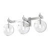 This item: Courcellete Chrome ADA Three-Light Bath Vanity