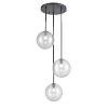 This item: Courcellete Graphite Three-Light Pendant