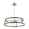 This item: Gentry Satin Nickel and Graphite Five-Light Pendant