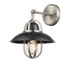 This item: Peggys Cove Graphite and Satin Nickel One-Light Wall Sconce