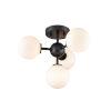 This item: Alouette Graphite Four-Light Semi Flushmount