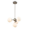 This item: Alouette Chrome and Brushed Nickel Four-Light Pendant