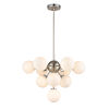 This item: Alouette Chrome and Brushed Nickel Ten-Light Chandelier