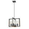 This item: Okanagan Graphite and Ironwood 18-Inch Four-Light Pendant