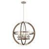 This item: Okanagan Brushed Nickel and Barnwood Four-Light Pendant
