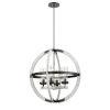 This item: Okanagan Graphite and Birchwood Four-Light Pendant