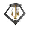 This item: Flechette Brass and Graphite Three-Light Flushmount