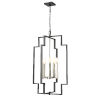 This item: Provence Satin Nickel and Graphite Five-Light Pendant