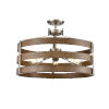 This item: Fort Garry Brushed Nickel and Barnwood Two-Light Semi Flushmount