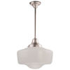 This item: Schoolhouse Satin Nickel One-Light Pendant
