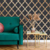 This item: Marrakesh Midnight and Metallic Gold Peel and Stick Wallpaper - SAMPLE SWATCH ONLY