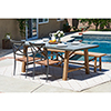 This item: Amalfi Grey 4 Piece Outdoor Dining Set with Cement Tabletop