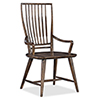 This item: Roslyn County Dark Wood Spindle Back Arm Chair