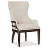 This item: Roslyn County Dark Wood Deconstructed Upholstered Host Chair