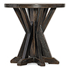 This item: Roslyn County Dark Wood Round Lamp Table