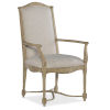 This item: Ciao Bella Light Wood 43-Inch Upholstered Back Arm Chair