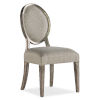 This item: Sanctuary Champagne Oval Side Chair