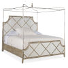 This item: Sanctuary Champagne Canopy California King Panel Bed