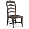 This item: Hill Country Twin Sisters Black Ladderback Side Chair