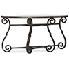 This item: Hill Country Luckenbach Metal and Stone Black Demilune Console