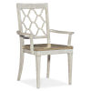 This item: Montebello Danish White and Carob Brown Arm Chair