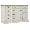 This item: Montebello Danish White and Carob Brown Twelve-Drawer Dresser