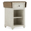 This item: Montebello Danish White and Carob Brown Nightstand Accent Table