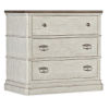 This item: Montebello Danish White and Carob Brown Three-Drawer Nightstand