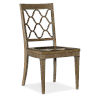 This item: Montebello Carob Brown Side Chair