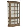 This item: Montebello Carob Brown Display Cabinet