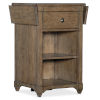 This item: Montebello Carob Brown Nightstand Accent Table