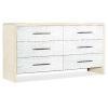 This item: Cascade White Six-Drawer Dresser