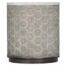 This item: Melange Gray Resin Round End Table