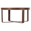 This item: Melange Brown Leather Cocktail Table