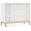 This item: Melange Gold with White Three-Drawer Chest