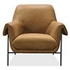 This item: Brown Ambroise Metal Frame Club Chair