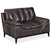 This item: Kandor Black Leather Stationary Chair