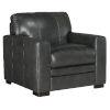 This item: Larkin Dark Wood Stationary Chair