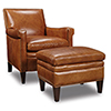 This item: Jilian Brown Leather Club Chair