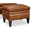 This item: Jilian Brown Leather Ottoman