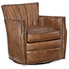 This item: Carson Brown Pawn Leather Swivel Club Chair