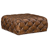 This item: Ethan Brown Leather Square Ottoman