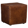 This item: Quebert Brown Leather Cube Ottoman